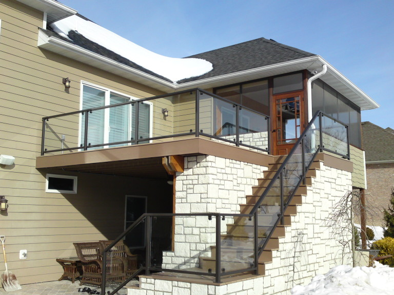Rustic Stone Home Handrail
