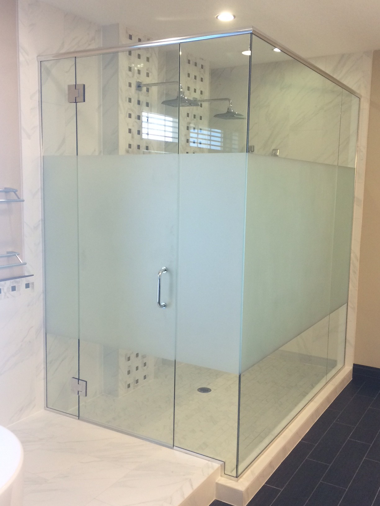 inline glassbathroom shower with bathrooms in homes metro by door glass showers bathroom